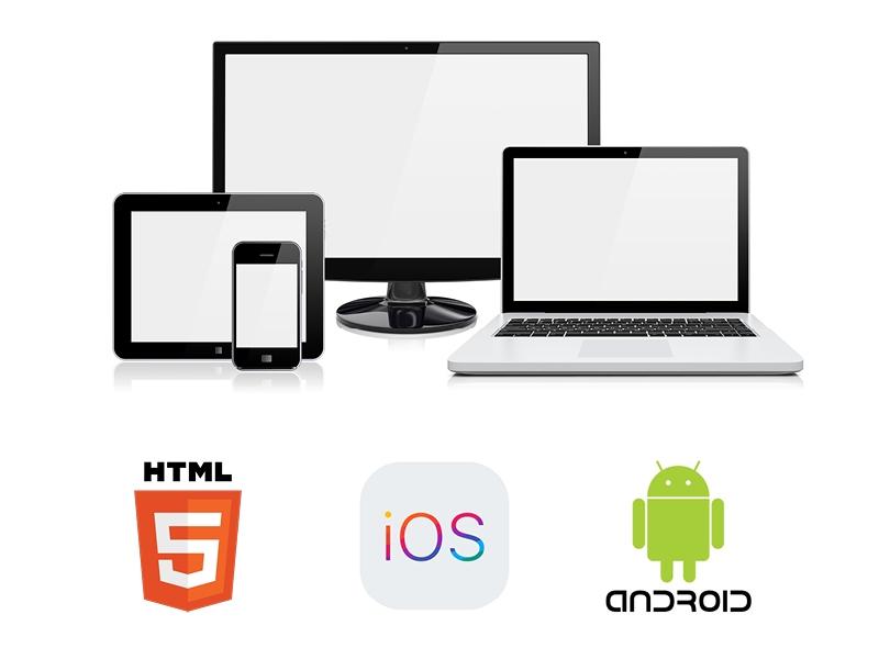 ios, android, html5 logos